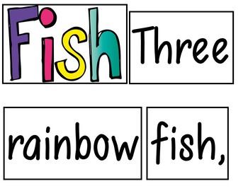 Three Rainbow Fish (Pocket Chart Activity)