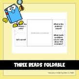 Three Reads Foldable + Graphic Organizer