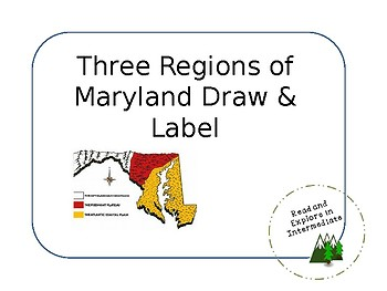 Three Regions of Maryland Draw and Label