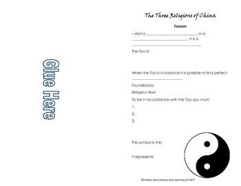 Three Religions of China Foldable