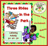 Listening Activity for Elementary Music: 3 Rides—Form, Tempo, Melodic Direction