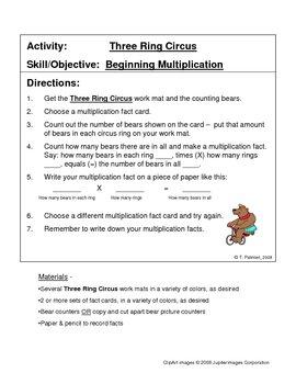 Three Ring Circus - Beginning Multiplication