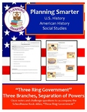 Three Ring Government, cloze notes and comprehension questions