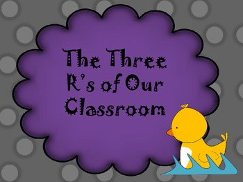 Three R's Poster