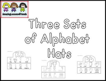 Three Sets of Alphabet Hats