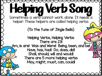 Verbs Action Helping Linking Task Card Sets Cooperative Games