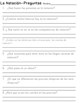 Three Short Non-Fiction Spanish Texts for Close Reading Practice {Deportes}