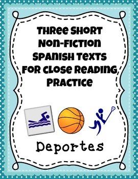 Three Short Non-Fiction Spanish Texts for Close Reading Pr