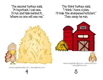 Three Silly Turkeys:  Emergent Reader Story Poem