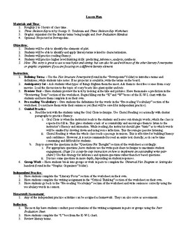 Lesson Three Skeleton Key by George Toudoza Lesson Plan, Worksheets, Key,
