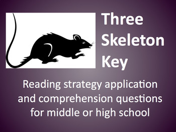 Three skeleton key teaching resources teachers pay teachers three skeleton key reading strategies application comprehension questions pdf ccuart Choice Image