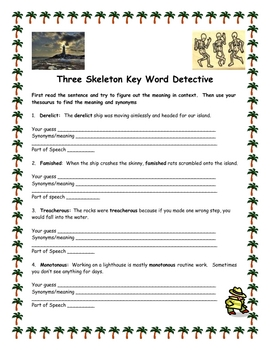Three skeleton key teaching resources teachers pay teachers three skeleton key word detective other vocabulary activities ccuart Choice Image