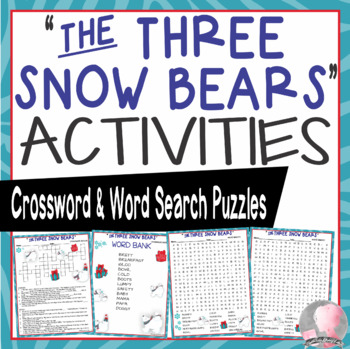 Three Snow Bears Activities Brett Crossword Puzzle and Word Searches