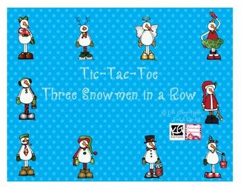 Three Snowman in a Row