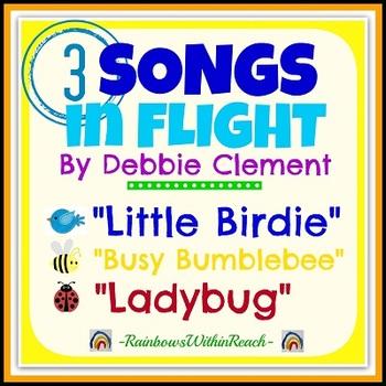Three Songs in Flight: Bumble Bee, Ladybug, Birds (Mp3s and Lyrics) Simple Songs