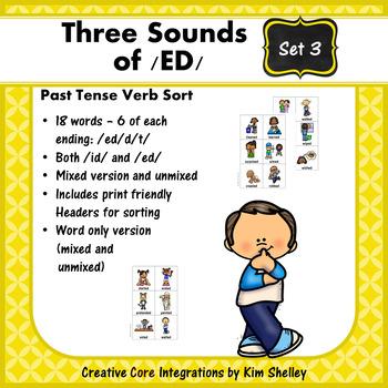 Three Sounds of /ED/ Sort - Set 3