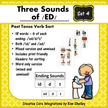 Three Sounds of /ED/ Sort - Set 4