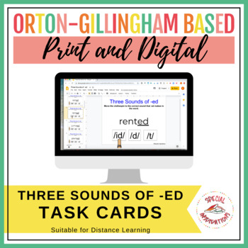 Three Sounds of -ED Task Box (Orton-Gillingham Inspired)