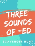 Orton Gillingham Activities: Three Sounds of -ed Games, Scavenger Hunt, & Story