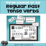 "Regular Past Tense Verbs - 3 Sounds of ""ed"" - Grammar Games and Activities!"