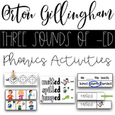 Three Sounds of -ed Phonics Activities - Orton Gillingham