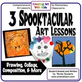 Art Lesson Bundle Halloween Three Spooktacular Activities