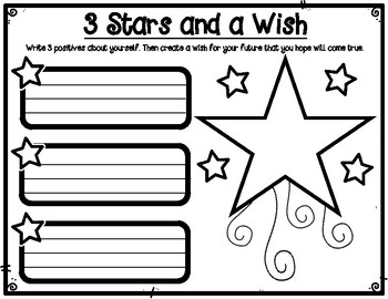 Three Stars and a Wish Positive Self Image Printable Pair and Share Poster