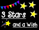 Three Stars and a Wish Positive Self Image Printable Pair