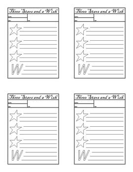 Three Stars and a Wish Sheets
