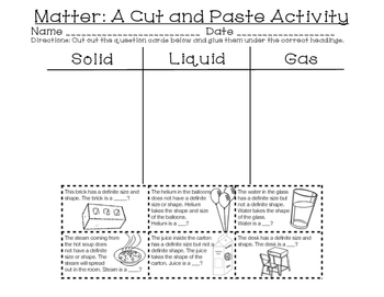 Three States of Matter Brochure