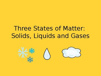 Three States of Matter Power Point