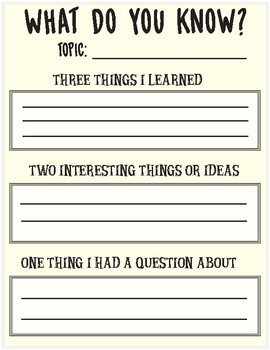 Three Step Discovery Worksheet