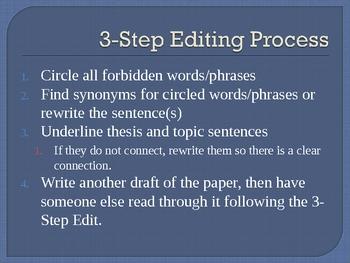 Three Step Editing Process