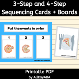 Three-Step and Four-Step Sequencing Cards - by AllDayABA