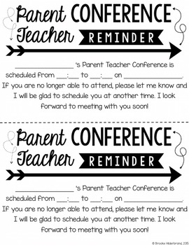 Three Styles of Editable PDF Parent Conference Forms for Any Grade!