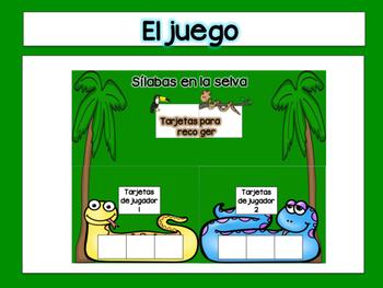 Three-Syllable Game in Spanish- Snake Theme