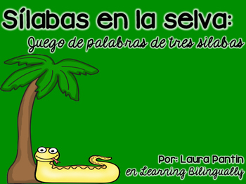 Three-Syllable Game in Spanish- Snake Theme