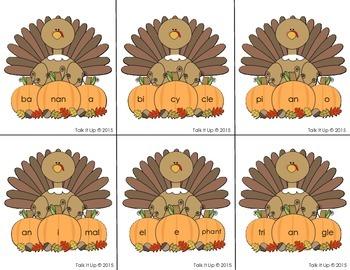Three Syllable Turkeys