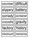 Three Syllable Word Flashcards