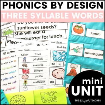 Three Syllable Word Work Printables
