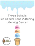 Three Syllable Words Activity- Different Color Scoops