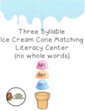 Three Syllable Words Activity- With No Whole Words