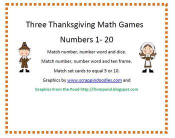 Three Thanksgiving Math Games
