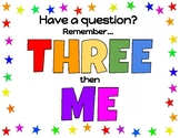 Three Then Me Printout for Classroom