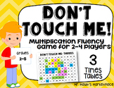 Three Times Tables: Don't Touch Me! Multiplication Fact Fluency Game