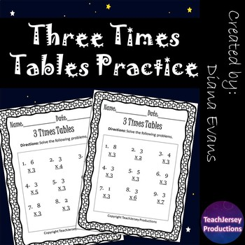 Three Times Tables Practice