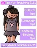 Three Tips for Teaching ELLs