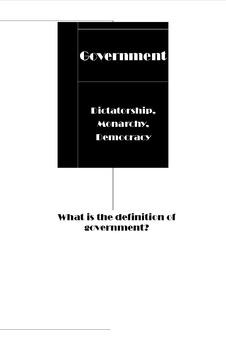 Three Types of Government Unit