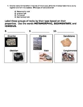 Three Types of Rock Quiz