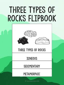 Three Types of Rocks Flip Book
